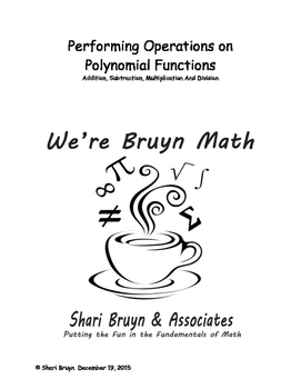 Polynomial Functions - Performing Operations