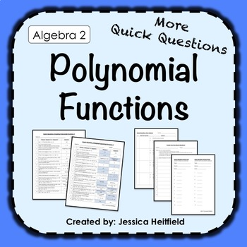 Polynomial Functions Activity: Fix Common Mistakes!