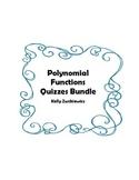 Polynomial Functions Quizzes Bundle