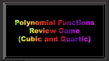 Polynomial Functions Review Game