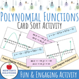 Polynomial Functions Sorting Activity