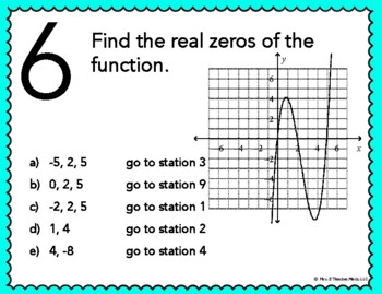 Polynomial Functions Stations Maze Activity