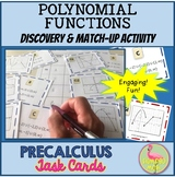 PreCalculus: Polynomial Functions Stations and Task Cards Activity