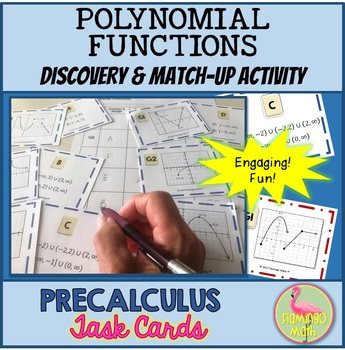 PreCalculus: Polynomial Functions Stations and Task Cards