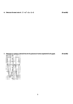 Pre-Calculus 12: Polynomial Functions Test (Version 1) - with FULL SOLUTIONS