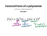 Polynomial Functions word wall