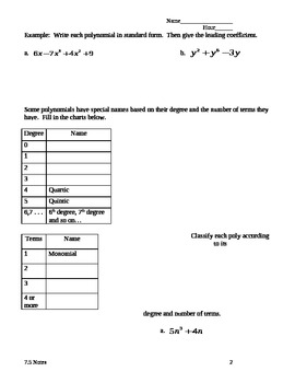 Polynomial Guided Notes
