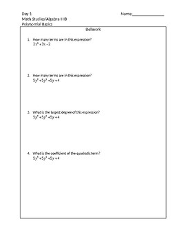 Polynomial Introduction