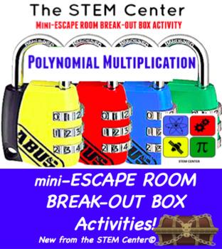 Polynomial Multiplication Mini Escape Room - Break Out Box
