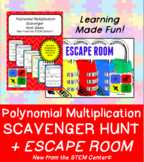 Polynomial Multiplication Scavenger Hunt & Escape Room