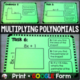 Multiplying Polynomials Task Cards