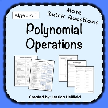 Polynomial Operations Activity: Fix Common Mistakes!