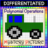 Polynomial Operations-DIFFERENTIATED Mystery Picture Color Activity