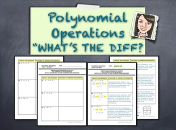 Polynomial Operations - What's the Diff?  Helps Students Separate Rules