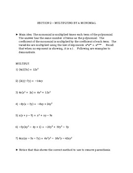 Polynomial Packet