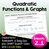 Linear and Quadratic Functions (PreCalculus - Unit 2)