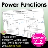 Power Functions with Modeling (PreCalculus - Unit 2)