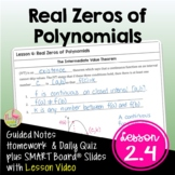 Real Zeros of Polynomial Functions wirh Lesson Video (Unit 2)