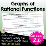 Graphs of Rational Functions with Lesson Video (Unit 2)