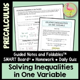 Solving Inequalities in One Variable (PreCalculus - Unit 2)