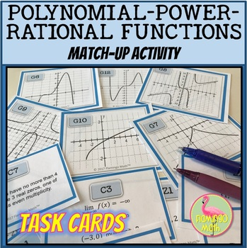 PreCalculus: Polynomial Power and Rational Functions Match Activity