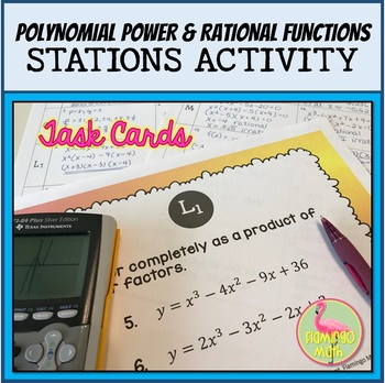 PreCalculus: Polynomial Power and Rational Functions Stations Activity