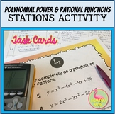 Polynomial Power and Rational Functions Stations Activity