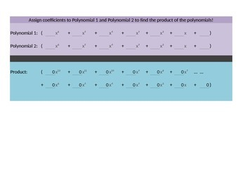 Polynomial Multiplication Calculator