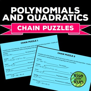 Polynomial Puzzle - FREE
