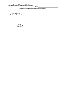 Polynomial Review