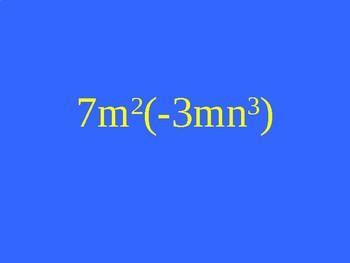 Polynomial Review - Jeopardy {Algebra 1}