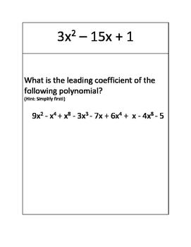Polynomial Scavenger Hunt