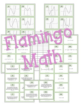 Algebra 2: Polynomial Functions Sort & Match Activity