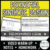 Polynomial Synthetic Division Lesson Distance Learning