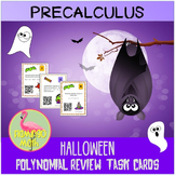 Polynomial Task Cards Halloween Activity