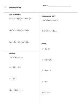 Polynomial Test (3 versions included)