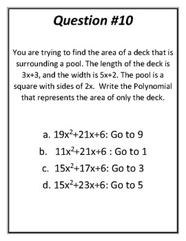 Polynomial Treasure Hunt