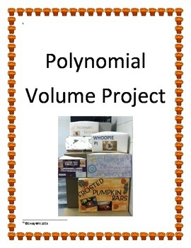 Polynomial Functions Volume Project