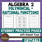 Polynomial and Rational Functions - Student Practice Pages