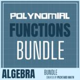 Polynomials ALGEBRA Bundle (7 Products) - Growing