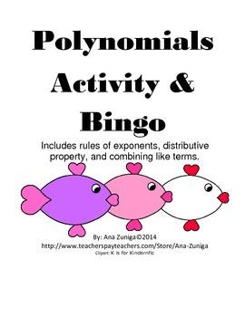 Polynomials Activity and Bingo