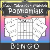 Operations with Polynomials Activity {Algebra Bingo} {Algebra Game}
