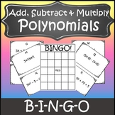 Operations with Polynomials Activity {Algebra Bingo} {Algebra Game}