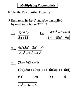 Polynomials - Adding, Subtracting, Multiplying, Factoring