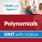 Polynomials   Algebra 1 Unit with Videos   Good for Distan