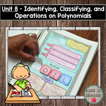 Polynomials - Algebra Interactive Notebook (Unit 8)