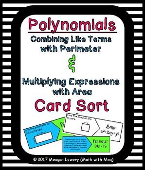 Polynomials Area & Perimeter Card Sort