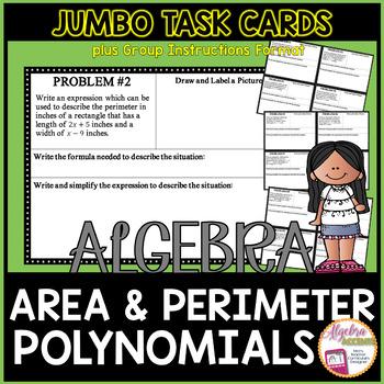 Polynomials Area & Perimeter Word Problems