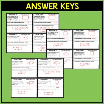 Polynomials Area Perimeter Word Problems By Algebra Accents Tpt
