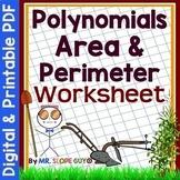 Polynomials Area and Perimeter Worksheet